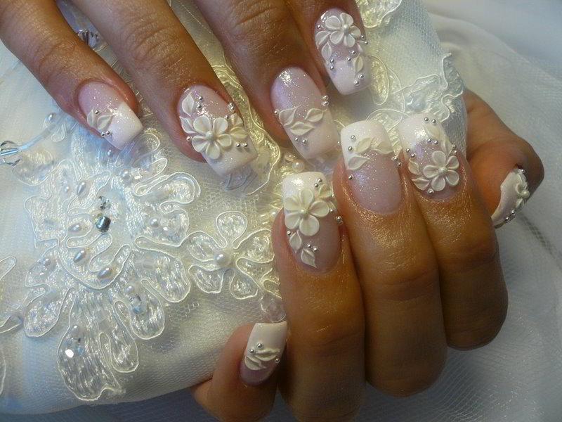 Свадебное наращивание ногтей