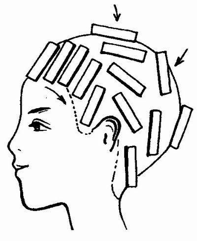 Шахматная техника завивки волос