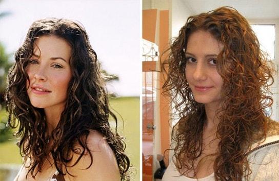 Завивка с эффектом мокрых волос